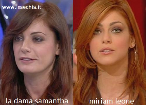 Somiglianza tra la dama Samantha e Miriam Leone