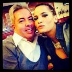 Claudia D'Agostino con un amico