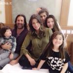 Claudia Galanti, Arnaud Mimran e i figli