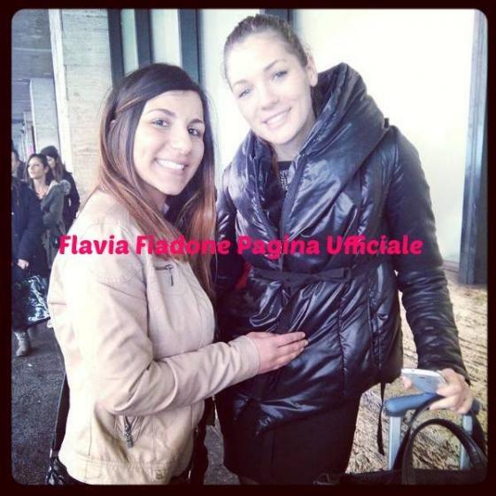 Flavia Fiadone con una fan