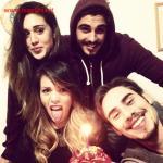 Francesco Monte, Cecilia Rodriguez, Stefano Monte e Valentina Scognamiglio