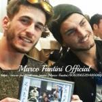 Marco Fantini con l'amico