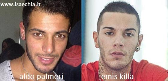 Somiglianza tra Aldo Palmeri ed Emis Killa