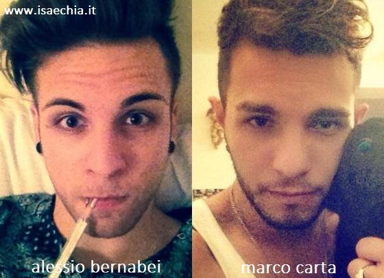 Somiglianza tra Alessio Bernabei e Marco Carta