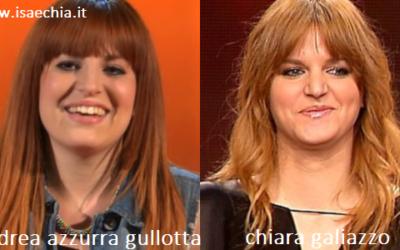 Somiglianza tra Andrea Azzurra Gullotta e Chiara Galiazzo