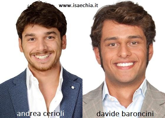 Somiglianza tra Andrea Cerioli e Davide Baroncini