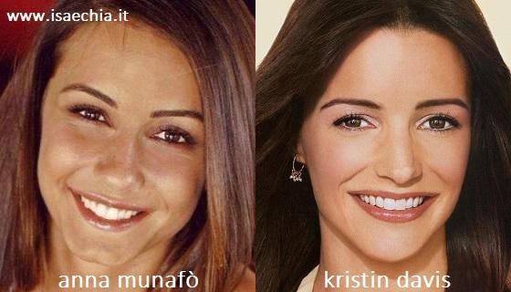 Somiglianza tra Anna Munafò e Kristin Davis