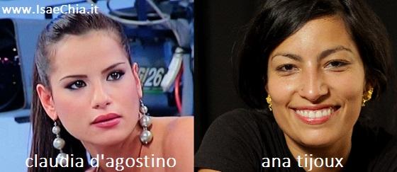 Somiglianza tra Claudia D'Agostino e Ana Tijoux