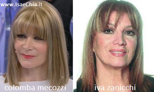 Somiglianza tra Colomba Mecozzi e Iva Zanicchi