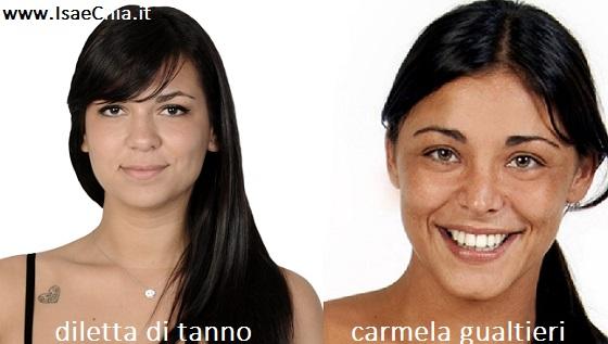 Somiglianza tra Diletta Di Tanno e Carmela Gualtieri