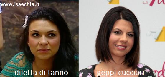 Somiglianza tra Diletta Di Tanno e Geppi Cucciari