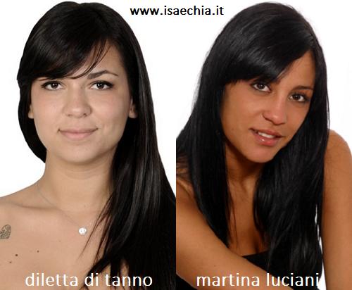 Somiglianza tra Diletta Di Tanno e Martina Luciani