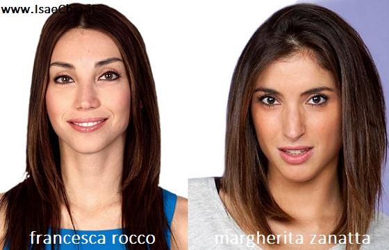 Somiglianza tra Francesca Rocco e Margherita Zanatta
