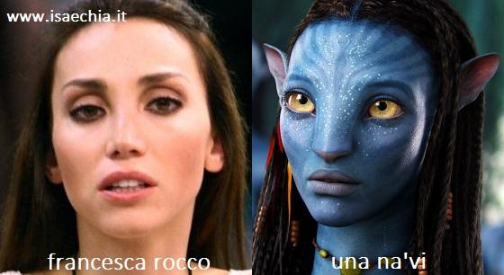 Somiglianza tra Francesca Rocco e i Na'vi di 'Avatar'