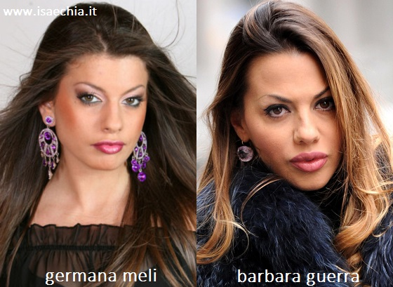 Somiglianza tra Germana Meli e Barbara Guerra