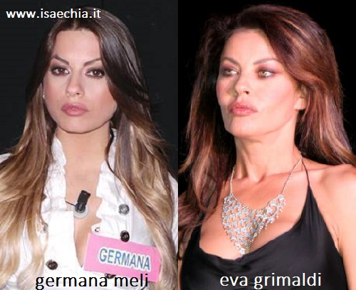 Somiglianza tra Germana Meli ed Eva Grimaldi
