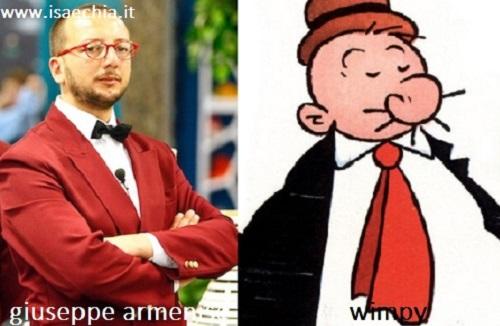 Somiglianza tra Giuseppe Armenise e Wimpy
