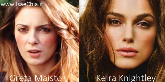 Somiglianza tra Greta Maisto e Keira Knightley