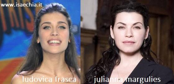 Somiglianza tra Ludovica Francesca e Julianna Margulies