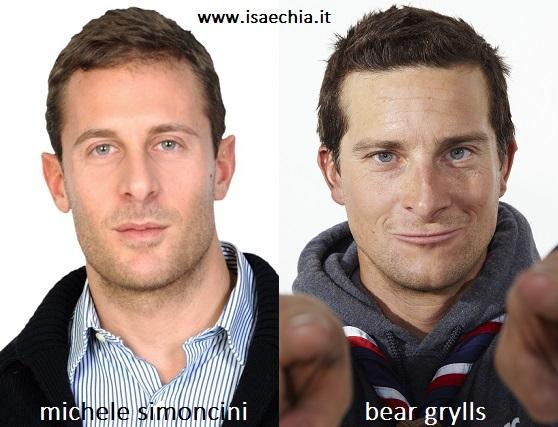 Somiglianza tra Michele Simoncini e Bear Grylls