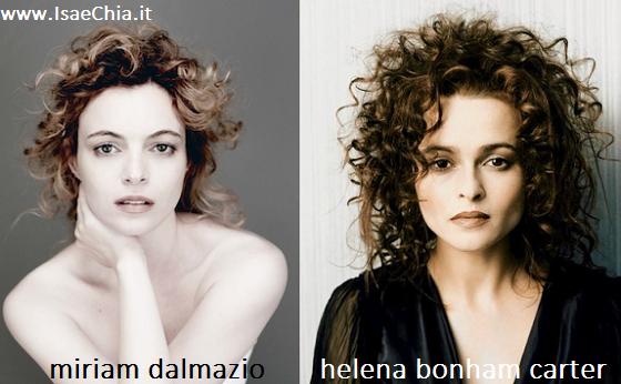 Somiglianza tra Miriam Dalmazio e Helena Bonham Carter