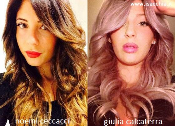 Somiglianza tra Noemi Ceccacci e Giulia Calcaterra