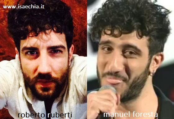 Somiglianza tra Roberto Ruberti e Manuel Foresta