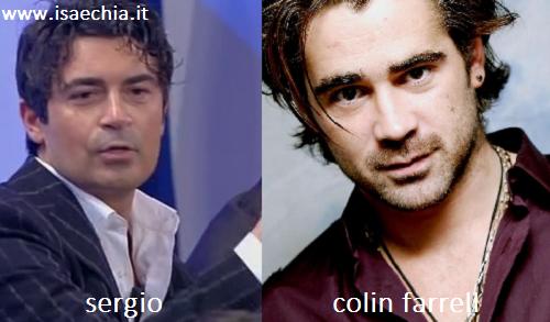 Somiglianza tra Sergio e Colin Farrell