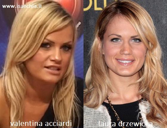 Somiglianza tra Valentina Acciardi e Laura Drzewicka