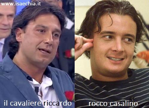 Somiglianza tra il cavaliere Riccardo e Rocco Casalino