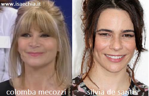 Somigliaza tra Colomba Mecozzi e Silvia De Santis