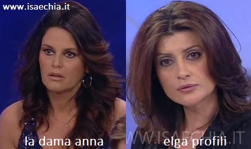 Somiglianza tra Anna e Elga Profili