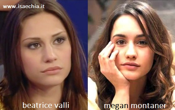 Somiglianza tra Beatrice Valli e Megan Montaner