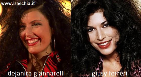 Somiglianza tra Dejanira Giannarelli e Giusy Ferreri