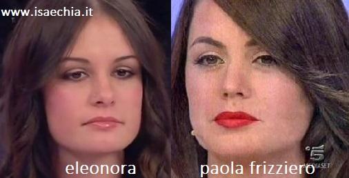 Somiglianza tra Eleonora e Paola Frizziero