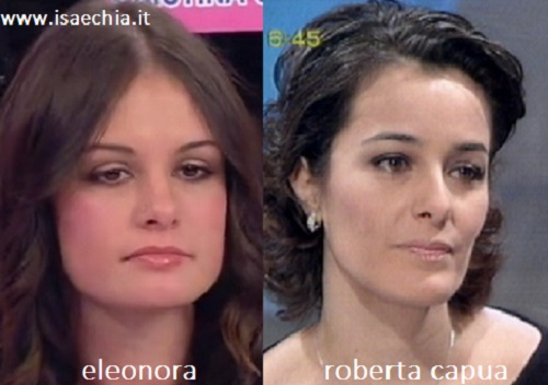 Somiglianza tra Eleonora e Roberta Capua