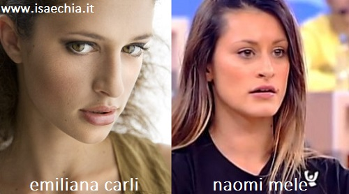 Somiglianza tra Emiliana Carli e Naomi Mele