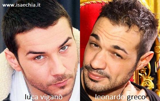 Somiglianza tra Luca Viganò e Leonardo Greco