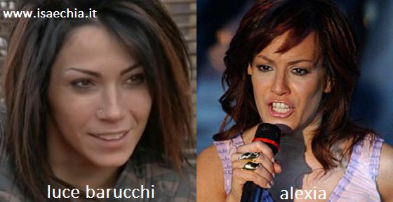 Somiglianza tra Luce Barucchi e Alexia