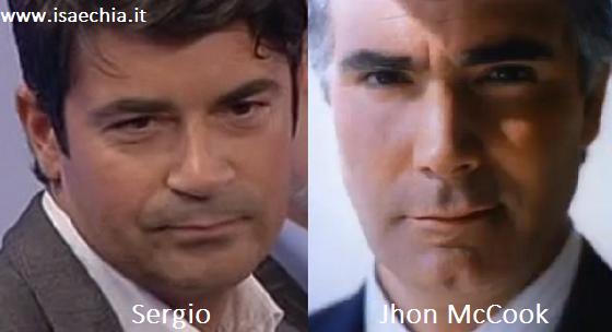 Somiglianza tra Sergio e John McCook