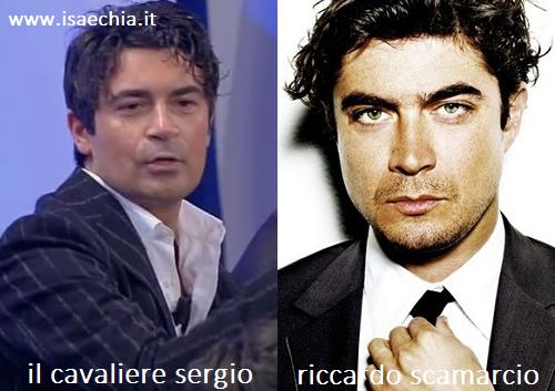 Somiglianza tra Sergio e Riccardo Scamarcio