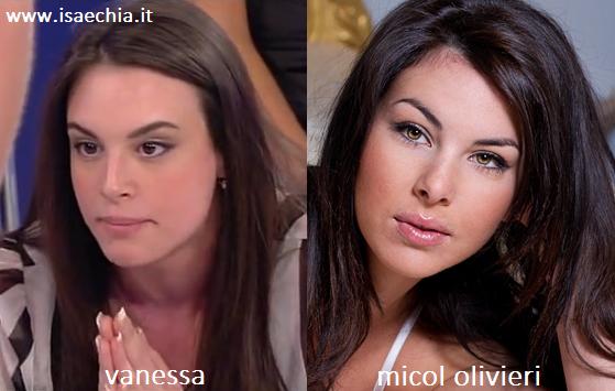 Somiglianza tra Vanessa e Micol Olivieri