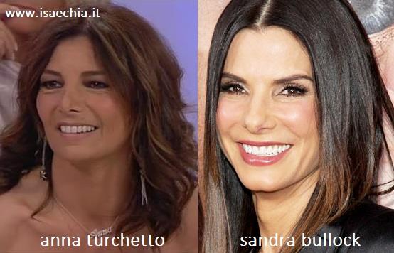 Somiglianza tra Anna Turchetto e Sandra Bullock