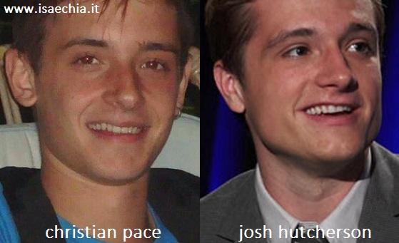 Somiglianza tra Christian Pace e Josh Hutcherson