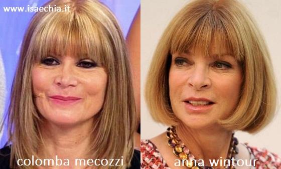 Somiglianza tra Colomba Mecozzi e Anna Wintour