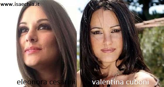 Somiglianza tra Eleonora Cesarini e Valentina Cuboni