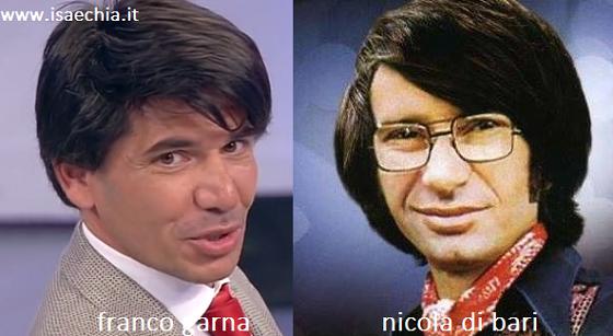 Somiglianza tra Franco Garna e Nicola Di Bari