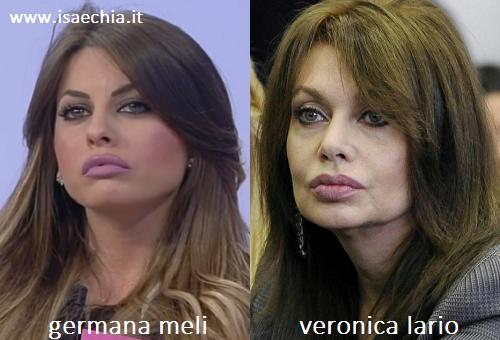 Somiglianza tra Germana Meli e Veronica Lario