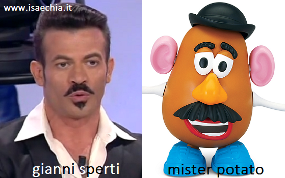 Somiglianza tra Gianni Sperti e Mister Potato