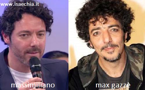 Somiglianza tra Massimiliano e Max Gazzè
